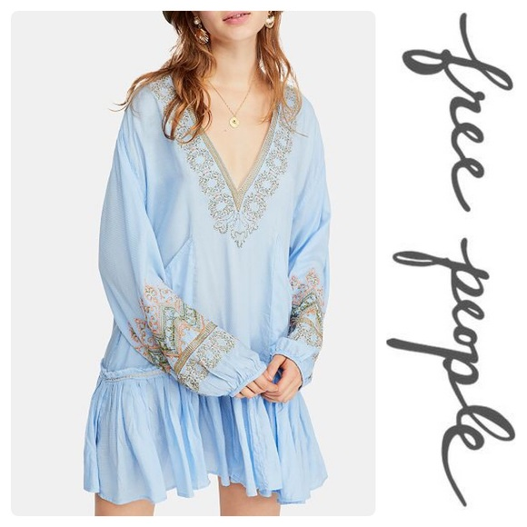 2d80fd9b0b2 Free People Wild One Embroidered Peasant Dress